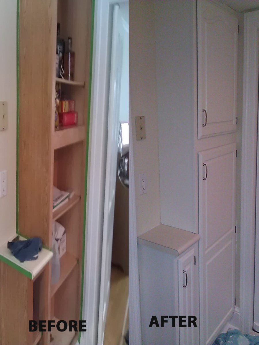 Kictchen Cabinet Painting Before and After
