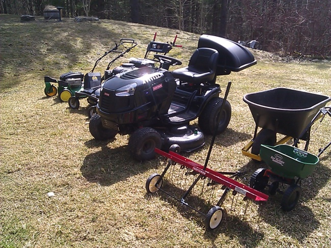 It's time to bust out those mowers.