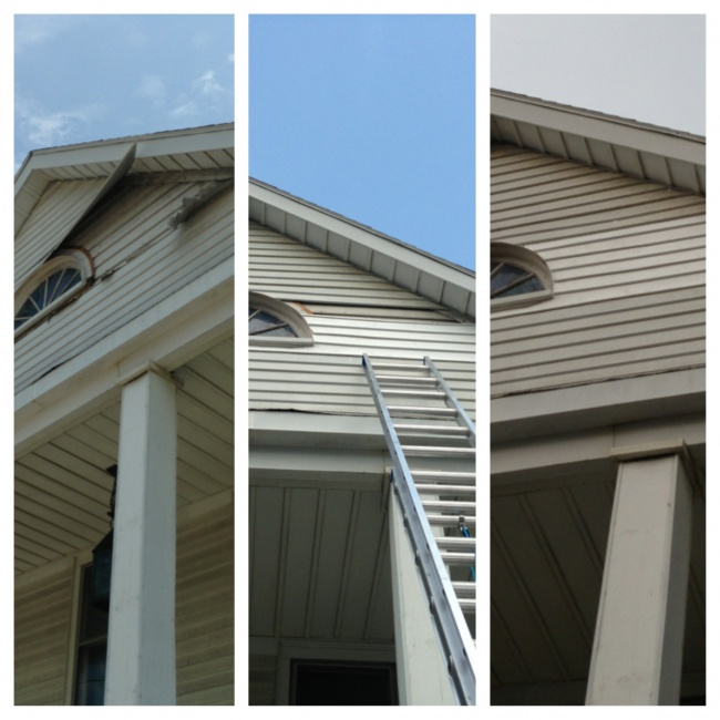 Storm damage cleanup and repairs